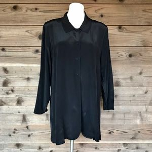 Soft Surroundings Silk Button Up Flare Tunic XL